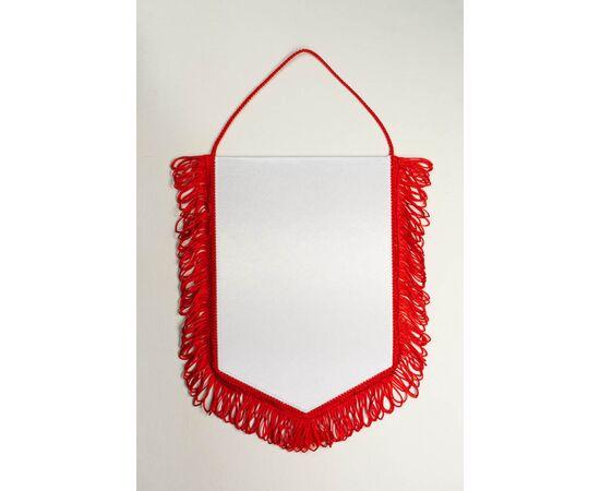 Вымпел под сублимацию М2 красный шнур с бахромой, Формат вымпела: 10 х 15 см, Цвет шнура: Красный
