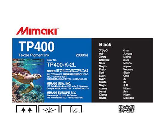 Текстильные пигментные чернила Mimaki TP400 Black 2000 мл, Цвет: Black, Объем: 2000 мл