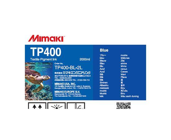 Текстильные пигментные чернила Mimaki TP400 Blue 2000 мл, Цвет: Blue, Объем: 2000 мл