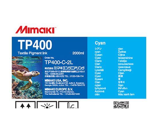 Текстильные пигментные чернила Mimaki TP400 Cyan 2000 мл, Цвет: Cyan, Объем: 2000 мл