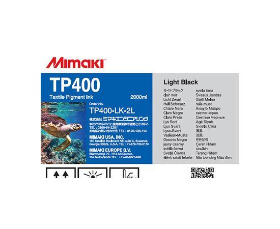 Текстильные пигментные чернила Mimaki TP400 LightBlack 2000 мл, Цвет: LightBlack, Объем: 2000 мл