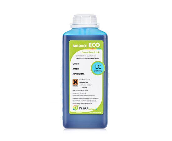 Чернила экосольвентные Veika Balance Eco Fast LightCyan Бутылка 1000 мл
