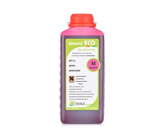Чернила экосольвентные Veika Balance Eco Fast Magenta Бутылка 1000 мл