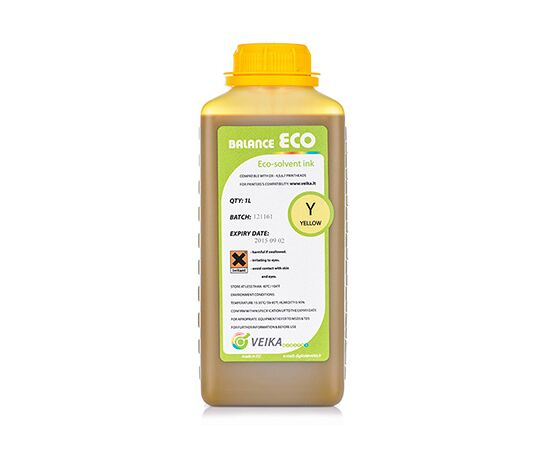 Чернила экосольвентные Veika Balance Eco Fast Yellow Бутылка 1000 мл